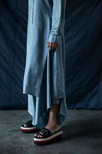 Riyaaz - Button down tunic shirt with dhoti pants