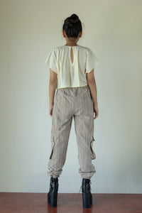 Dahr - Jogger pants with contrast side stripes and pockets