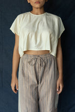 Navya - Handwoven silk cotton crop top