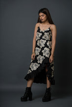 Freida -  printed slip dress with ruffled hemline