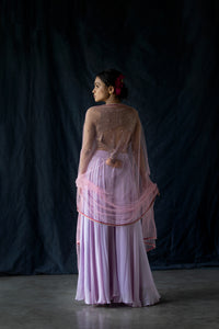 Rimjhim - Mauve sequined blouse with open back