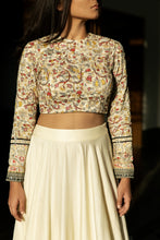 Seher - Embroidered ivory lehenga set