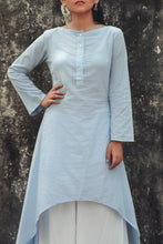 Dante - Boat neck cotton tunic with bell sleeves