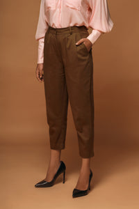 Lucca - High waist tailored crop peg trousers