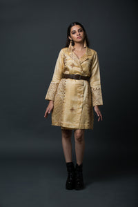 Myra - Suit dress with kantha embroidery