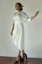 Linet - Draped one shoulder silk sarong dress