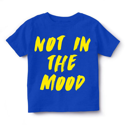 Kid's Printed Round Neck Cotton Half Sleeve T-Shirt(Not in the mood), Royal Blue, Kid's T-Shirt - GeekDawn