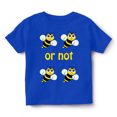 Kid's Printed Round Neck Cotton Half Sleeve T-Shirt, To Be Or Not To Be, Royal Blue, Kid's T-Shirt - GeekDawn