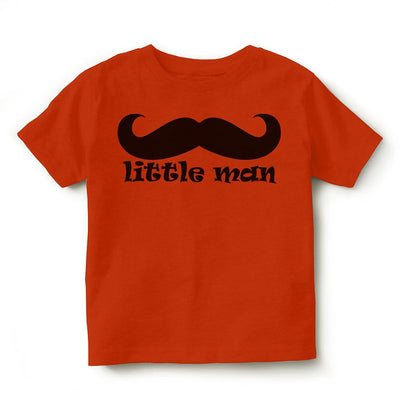 Kid's Printed Round Neck Cotton Half Sleeve T-Shirt(Little Man), Orange, Kid's T-Shirt - GeekDawn