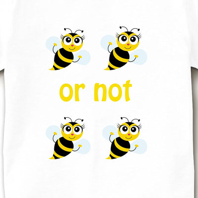 Kid's Printed Round Neck Cotton Half Sleeve T-Shirt(To Be Or Not To Be), White, Kid's T-Shirt - GeekDawn