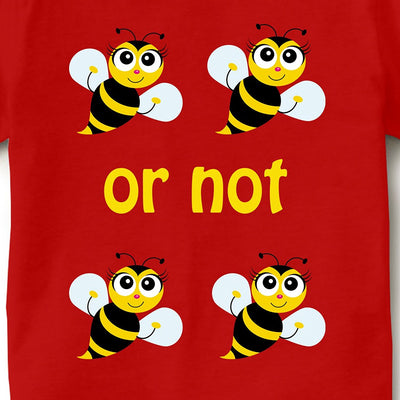 Kid's Printed Round Neck Cotton Half Sleeve T-Shirt(To Be Or Not To Be), Red, Kid's T-Shirt - GeekDawn