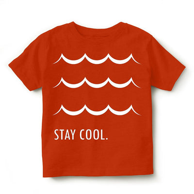 Kid's Printed Round Neck Cotton Half Sleeve T-Shirt(Stay Cool), Orange, Kid's T-Shirt - GeekDawn