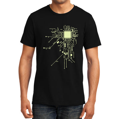 Digital Heart Computer Chip Circuit , Programmer , Unisex Graphic T-Shirt