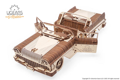 "Ugears ""Dream Cabriolet VM-05 Kit"" I DIY Self-Assembly Mechanical Kits For Teens and Adults"