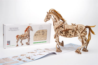 "Ugears ""Horse Mechanoid Kit"" I DIY Self-Assembly Mechanical Kits For Teens and Adults"