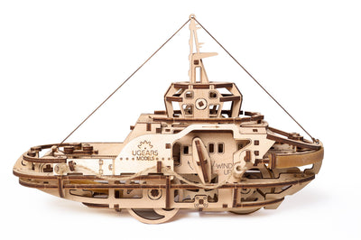 "Ugears ""Tugboat Kit"" I DIY Self-Assembly Mechanical Kits For Teens and Adults"