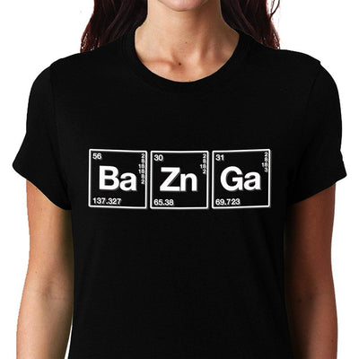 Bazinga , Chemistry, Big Bang Theory, Sheldon , Women's Top - GeekDawn