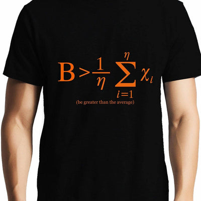 Be Greater than Average , NASA , Math , Unisex Graphic T-Shirt - GeekDawn
