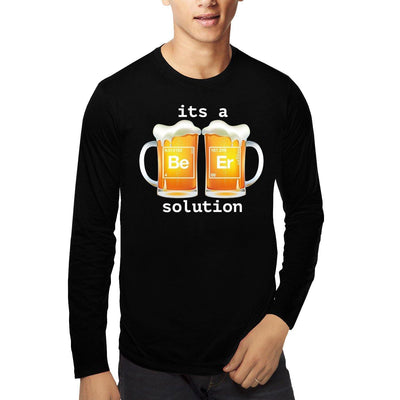 Beer is a solution , Funny quote , Chemistry , Unisex Graphic Full Sleeves T-Shirt - GeekDawn