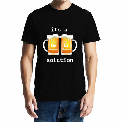 Beer is a solution , Funny quote , Chemistry , Unisex Graphic T-Shirt - GeekDawn
