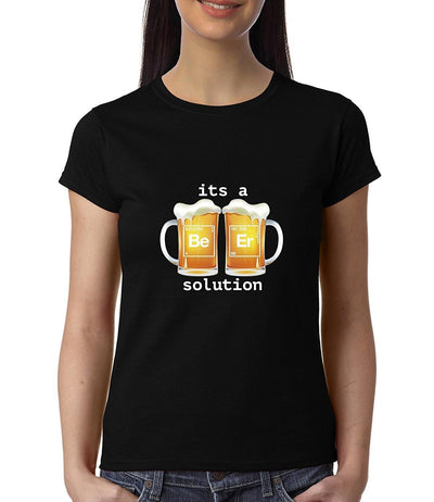 Beer is a solution , Funny quote , Chemistry , Women's Top - GeekDawn
