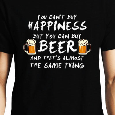 Beer is Happiness , Funny quote , Unisex Graphic T-Shirt - GeekDawn