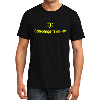 Schrodinger's Smiley T Shirt | Round Neck T-Shirt