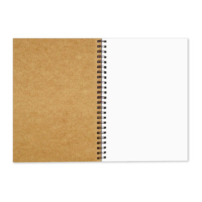 Brown Cover Wiro Bound Sketch Book/Notebook, Meh - GeekDawn