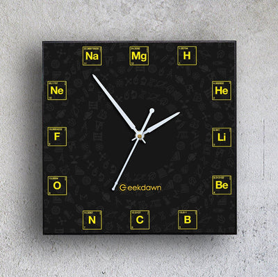 Elements Wall Clock (Wooden/MDF) - GeekDawn