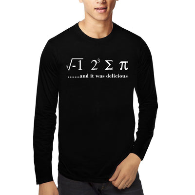 I ate some pie and it was delicious , Math , Unisex Graphic Full Sleeves T-Shirt - GeekDawn