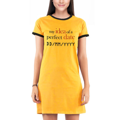 Idea of a perfect date , Yellow , Programming , Coding , Women's Dress - GeekDawn