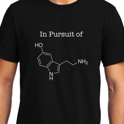 In Pursuit of Serotonin / Happiness , Biology , Unisex Graphic T-Shirt - GeekDawn