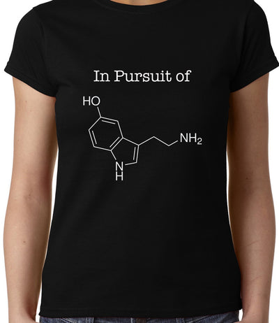 In Pursuit of Serotonin / Happiness , Biology , Women's Top - GeekDawn