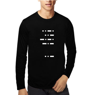 Morse Code , Math , Unisex Graphic Full Sleeves T-Shirt - GeekDawn