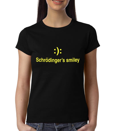 Schrodinger's Smiley , Physics , Women's Top - GeekDawn
