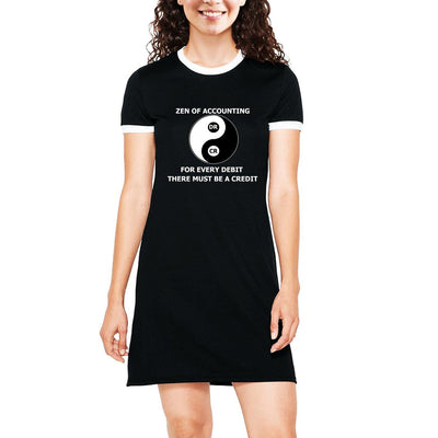 Zen of Accounting , Yin Yang , Accounting , Women's Dress - GeekDawn
