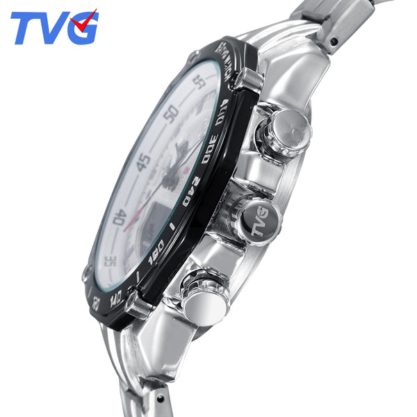 Men's Quartz Analog Digital LED Clock Man Fashion Sports Army Military Wrist Watch