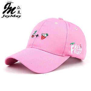 Leisure Fresh Fruit Embroidery Hat  Strawberry Banana Cherry Orange Peach  Baseball Cap For  Women