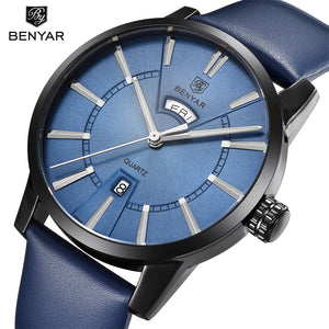 BENYAR Fashion Casual Men Watches Top Brand Luxury Double calendar Quartz Watch
