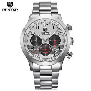 BENYAR Stainless Steel Waterproof Chronograph Watches