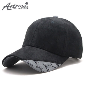 New Suede Fabric Baseball Cap Men Women Cotton Snapback Hats