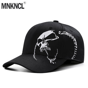 High Quality Unisex 100% Cotton Outdoor Baseball Cap Skull Embroidery Snapback