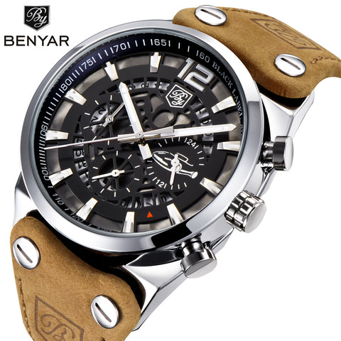 BENYAR Top Luxury Chronograph Sport Men's Watches Fashion Brand Waterproof Military Watch