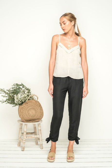 End Of Time Cami - Natural Linen