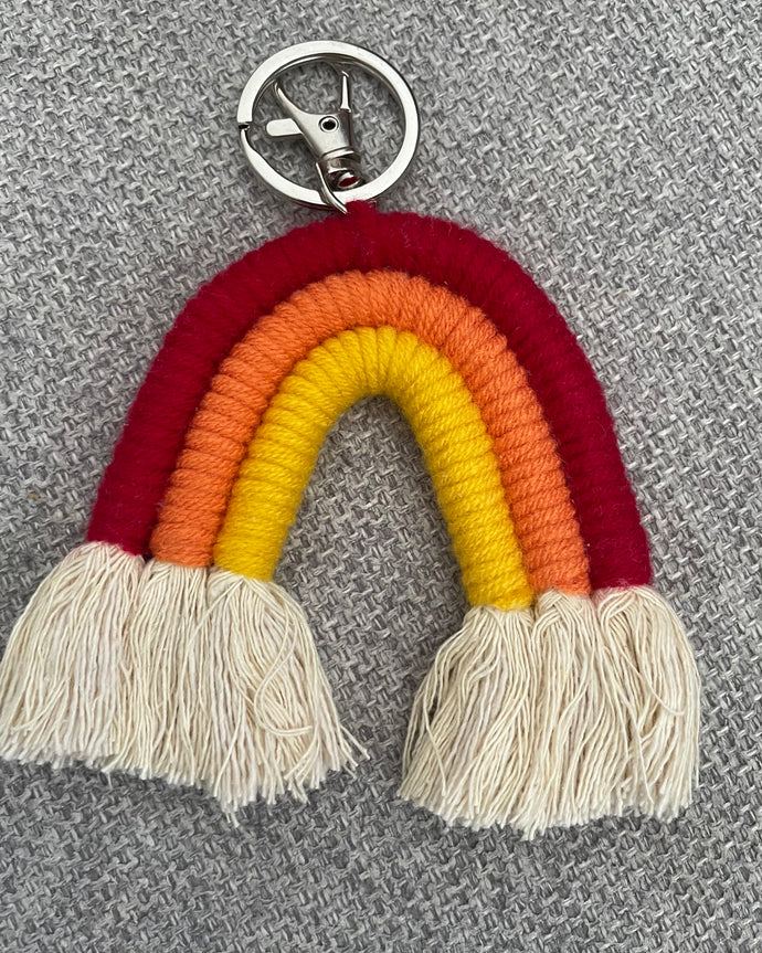 Weaving Rainbow Keychain