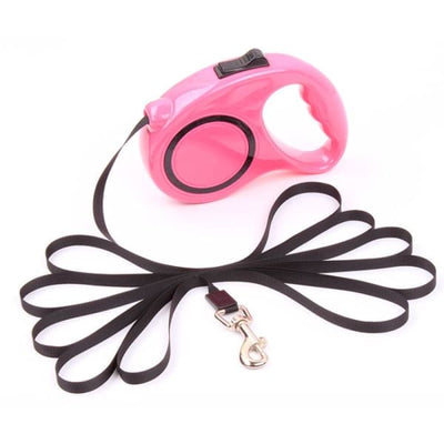 $22.50 - 3M AUTOMATIC RETRACTABLE DOG LEASH - PET DOGS WALKING RUNNING LEAD PINK 0.4KG (15) TRAVEL PETS