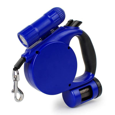 $39.95 - 4.5M RETRACTABLE DOG LEAD WITH TORCH & POOP BAG DISPENSER (7) TRAVEL PETS