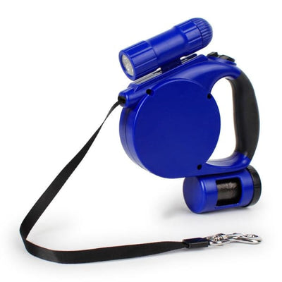 $39.95 - 4.5M RETRACTABLE DOG LEAD WITH TORCH & POOP BAG DISPENSER (14) TRAVEL PETS