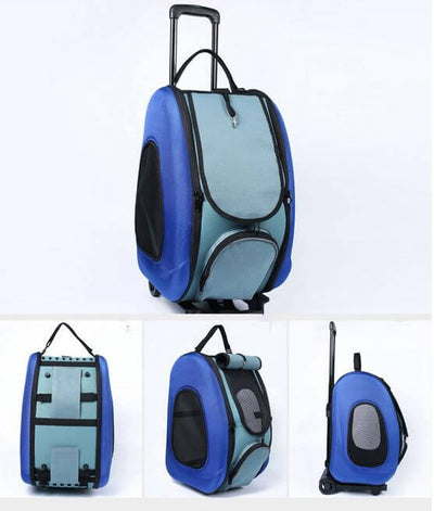 Small Animal Travel Carrier & Trolley
