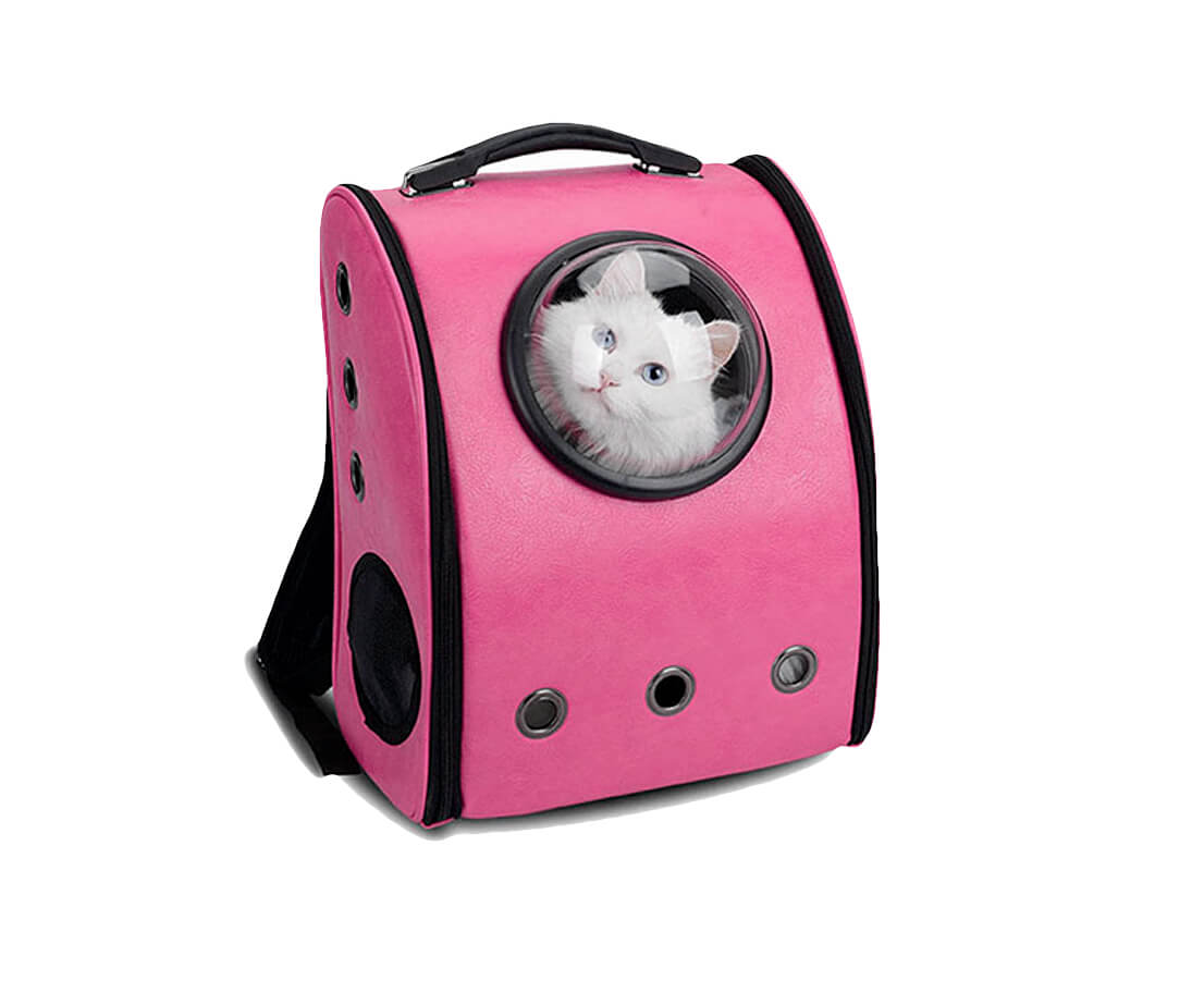Pink Small Cat/Pet Travel Bubble Backpack